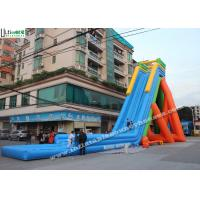 Wholesale 12m High Inflatable Pool Water Slides Outdoor Garden Water Slides For Parties from china suppliers