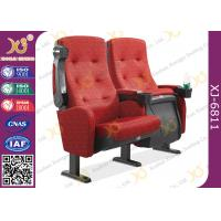 Molded PU Foam Flame Retardant Theatre Seating Chairs Center Distance 580mm Rocker