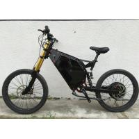 Quality 19 Inch Full Suspension Electric Mountain Bike 5000w With Carbon Steel Frame Material for sale