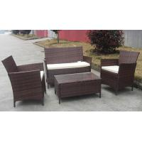 Wholesale Commercial Discount Rattan Furniture Set , 4PCS KD Rattan Garden Sofa Sets from china suppliers