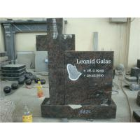 Wholesale European style flower shape gray granite memorial garden stones from china suppliers