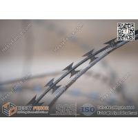 Wholesale BTO-22 O.D500mm Galvanised Cross Coil Concertina Razor Wire   Anping Razor Wire Factory from china suppliers