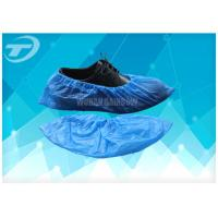 Wholesale Chlorinated Polyethylene Fabric Disposable Shoe Covers Blue Color from china suppliers