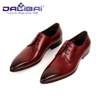 Wholesale Men's Italian design Genuine Leather Pointed Toe Wedding Formal Dress from china suppliers