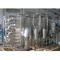 Wholesale 1000L/H Turnkey Pasteurized Milk Processing Line for Gable Top Carton from china suppliers