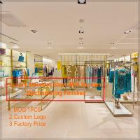 Quality Good price fashion display equipments custom used  store metal clothing display rack and s for sale