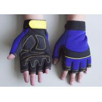 Wholesale Blue, Red or black Fingerless safty Protection Automotive, Household, Mechanic Work Gloves from china suppliers