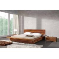 Wholesale Bed Room Queen Size Walnut Bed Set / Wood Beds With Solid Black Walnut 1.8 * 2.0 M from china suppliers