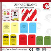 Wholesale New Design PVC Customized Standard  Tagout lable Used With Padlock from china suppliers