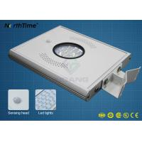 Wholesale Aluminum Alloy All in One Solar LED Street Light with PIR Motion Sensor from china suppliers