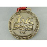 Wholesale Zinc Alloy Die Casting Sport Medals , Customized Running Medals By Stamping from china suppliers