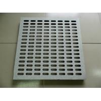 Wholesale Indoor Wearproof Perforated Steel Panel , Perforated Tiles For Raised Floor from china suppliers