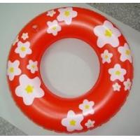 Quality Infant inflatable swim ring ,  Pool with inflatable ring flower pringting for sale