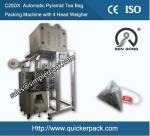 Pyramid Nylon Flower Tea Bag Packing Machine by Ultrasonic Sealing