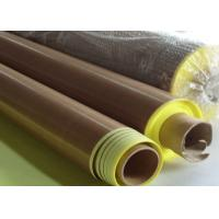 Wholesale Anti -  aging Adhesive + Paper PTFE Coated Fiberglass Fabric  Smooth Surface from china suppliers