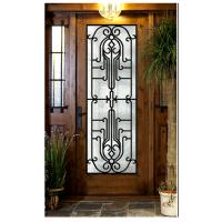 Wholesale entrance door design  Wrought Iron Door Glass Agon Filled 22*64inch Size Shaped from china suppliers