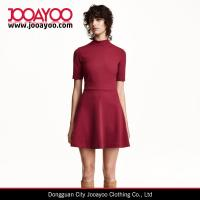 Wholesale Autumn New Fashion Women Short Sleeves Smart Textured Midi Dresses from china suppliers