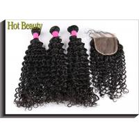 Wholesale Hot Beauty Brazilian Vrigin Human Hair Extensions Deep Wave , Natural Black from china suppliers