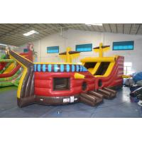 Wholesale Inflatable Pirate Ship Bouncy Castle 18OZ PVC Tarpaulin For Playing from china suppliers