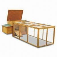 Wholesale Chicken Coop/House with Big Front Door, Asphalt Roof and Fully Covered Exercise Run from china suppliers