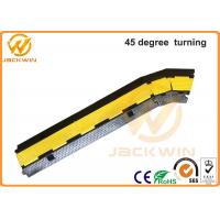 Wholesale 300 * 250 * 50mm 45 Degree 2 Channel Rubber Cable Corner Protector Yellow from china suppliers
