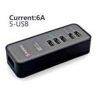 Wholesale Soshine 5-Port USB 6A 30W AC Travel desktop Charger from china suppliers