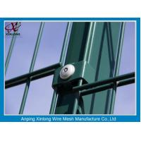 Wholesale Green Color PVC Coated Double Wire Fence 200*50mm Dark Convenient Installation from china suppliers