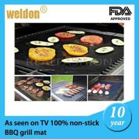 Wholesale Reusable PTFE Coated Fabric BBQ Grill Mats Dishwasher / portable bbq grill from china suppliers
