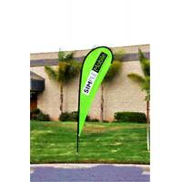 Wholesale Custom Teardrop Banners Advertising , Tear Drop Banners High Strength Fiberglass Pole from china suppliers