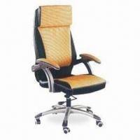 Wholesale Executive Chair with PU Upholstery, Plastic Armrest, High Density Foam and Plastic Base from china suppliers