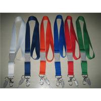 Wholesale Polyester lanyard with dyed colored plastic detachable buckle, polyester neck straps, from china suppliers