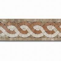 Wholesale Marble Mosaic Border for Outdoor/Inner Kitchens, Measures 305 x 100mm from china suppliers