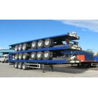 Buy cheap 13m Extendable air suspension 60t Flat Bed Semi Trailer for transporting 20ft 40ft 45ft from wholesalers
