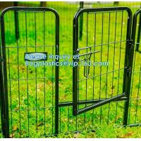 Wholesale Aluminum simple easily assembled Big single-door large steel dog animal cage, Puppy Cage 8 Panel Metal Fence Run Garden from china suppliers