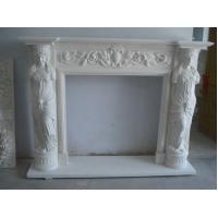 Wholesale Elegent Electrical Fireplace Mantel With Female Statues from china suppliers