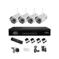 Wholesale High Definition Waterproof 4 Channel Wireless NVR Kits Surveillance Cameras from china suppliers
