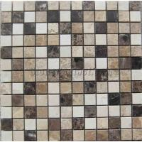 Wholesale marble mosaic PY-1599SW mixed glass+stainless steel mosaics from china suppliers