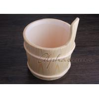 Quality 3 L Nordic Type spa Bucket With Ladle For Traditional Sauna Room for sale