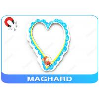 Wholesale RoHS Offset Printing Magnetic Heart Shaped Photo Frames For Refrigerator , PP Laminated from china suppliers