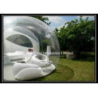 Wholesale Portable Inflatable Bubble House , Clear Outdoor Camping Tent from china suppliers