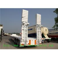 Buy cheap 3 Axles Low Bed Semi Trailers For Heavy Equipment / Excavator Transportation from wholesalers