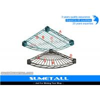 "Wholesale Custom Radius Corner Metal Wire Shelving Rack For Bathroom D18"" And D24"" from china suppliers"