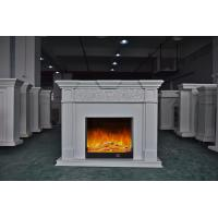 Quality White Antique Classical Imitation Marble Fireplace For Hotel / Home for sale