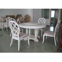 Wholesale Elegant Wooden Luxury Dining Room Furniture White Round Dining Table from china suppliers