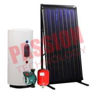 High Performance Split Solar Water Heater Flat Plate For Heating Black Chrome