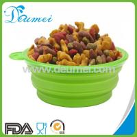 Wholesale Portable Outdoor & Home Use Collapsible Silicone Pet Bowl/Large Silicone Folding Dog Bowl from china suppliers