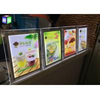 Quality Table Stand LED Light Box Frame Sign Lightbox Illuminated Menu Boards RoHs Standards for sale