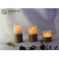 Wholesale Smooth Surface Finish Pillar Moving Flame Led Candles For Party MF-003 from china suppliers
