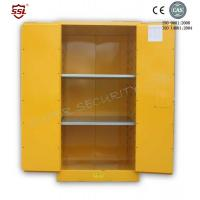 Wholesale Fireproof Chemical Storage Cabinet With Zinc Lever Lock , Galvanized Shelves from china suppliers
