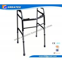 Wholesale Medline folding walker With Double Buttons Height Adjustable with Optional Castor from china suppliers